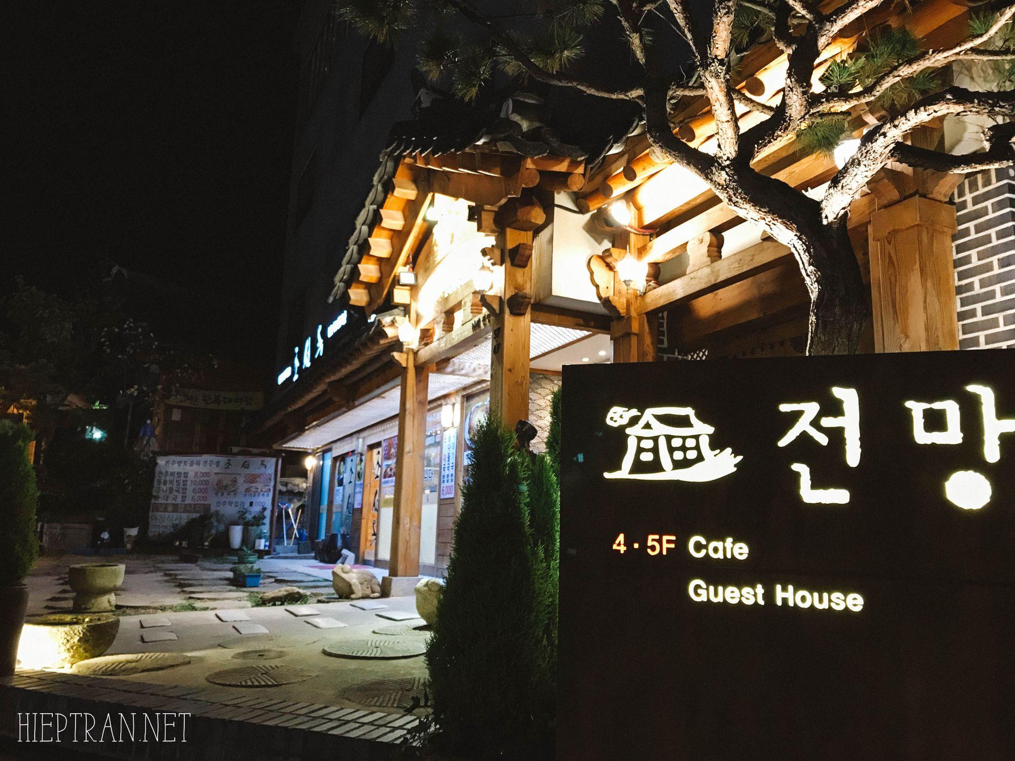 Jeonmang với view được xem là ấn tượng nhất khu làng cổ.
